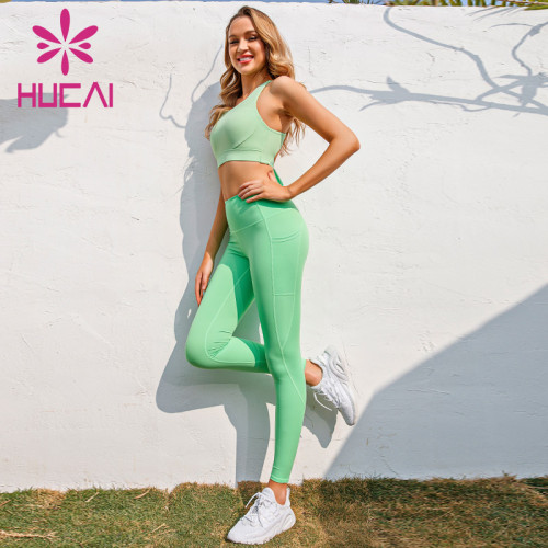 Activewear wholesale distributors provide green bandage sexy sports suit