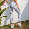 White yoga pants wholesale Printed hip lifting tight stretch fitness pants for women