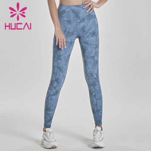 Tie dye yoga pants wholesale Stretch tight peach hip pressure ventilation
