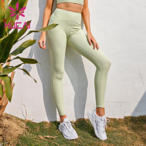 Custom make your own yoga pants bamboo yoga pants wholesale Buttock tuck Capris