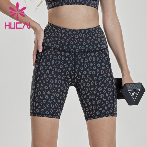 womens biker shorts wholesale quick drying printing Capris