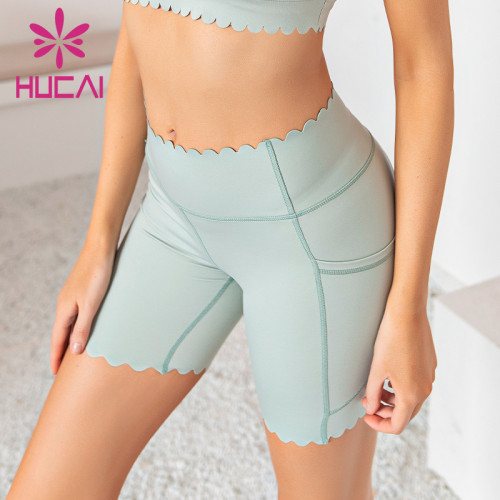 wholesale high waisted biker shorts elastic tight fast dry wear