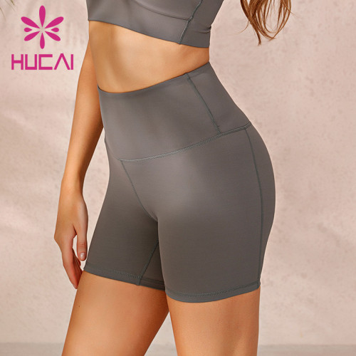 high waist biker shorts wholesale hip sports wear fitness hot pants