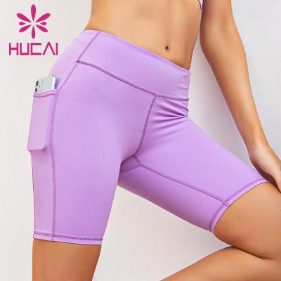 Neon color biker shorts for plus size wholesale high waist and hip