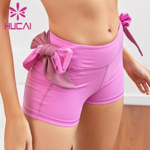 Custom wholesale bike shorts tight elastic simple basic casual shorts