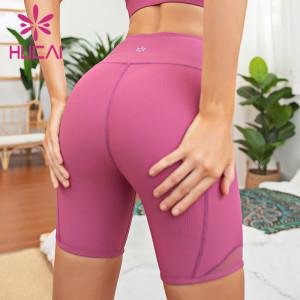 blank biker shorts wholesale five point tight sports fitness pants