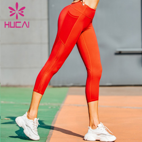 wholesale workout leggings with pockets support custom logo