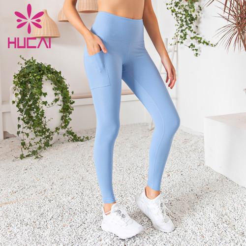 wholesale workout leggings plus size high waist blue Yoga Pants