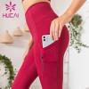wholesale high waisted workout leggings Imitation leather bronzing powder flash Yoga Pants