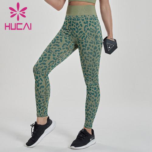 wholesale leopard pattern printed yoga leggings