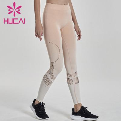 wholesale mesh yoga leggings high waist and hips show thin