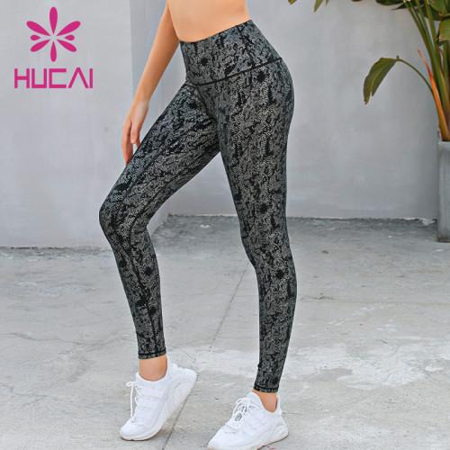 wholesale snake print yoga leggings gym gym pants