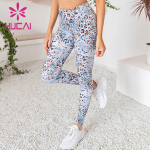 wholesale boho beautiful yoga leggings printed quick drying fitness pants