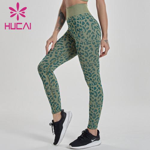 wholesale leopard print yoga leggings high waist breech pants