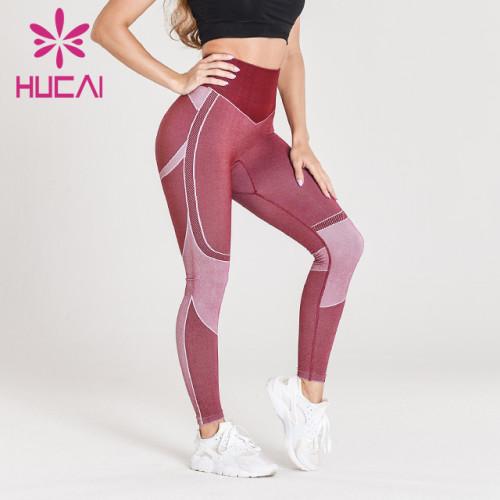wholesale yoga pants with design on leg