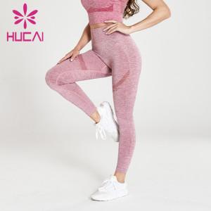 wholesale blush yoga leggings high waist hip lifting fitness pants