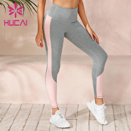 wholesale good quality high rise gray yoga leggings for women