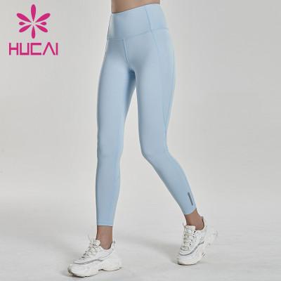 custom text yoga pants softest blue leggings
