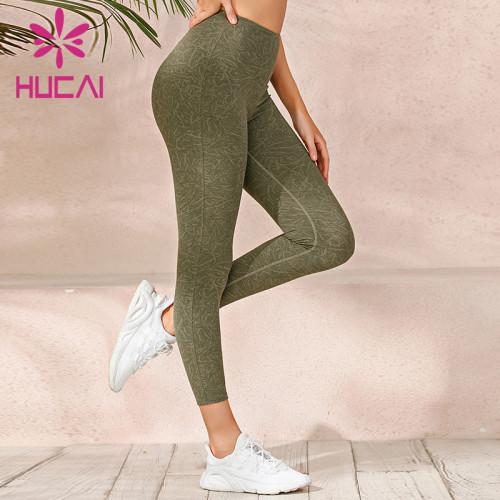 wholesale yoga leggings hawaii high quality high waist fitness pants