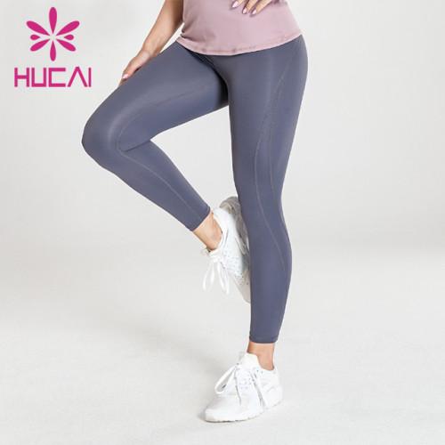 wholesale dark grey yoga leggings high quality high waist fitness pants