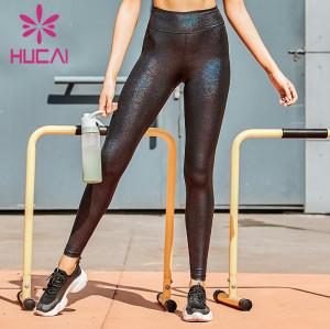 black sequin spandex yoga skinny pants wholesale