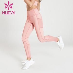 wholesale pink brand yoga leggings high quality hip lifting fitness pants