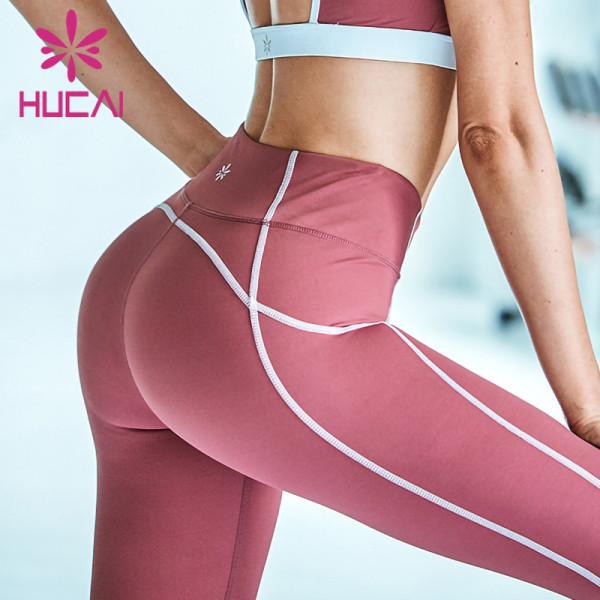 wholesale beautiful yoga leggings high quality hip lifting fitness pants