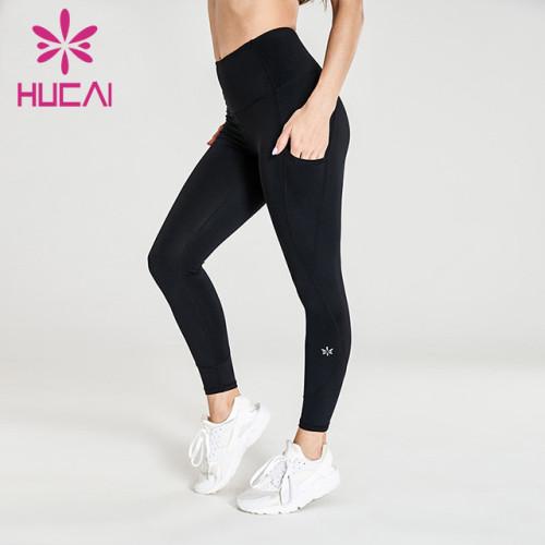 wholesale black leggings yoga high quality hip lifting fitness pants