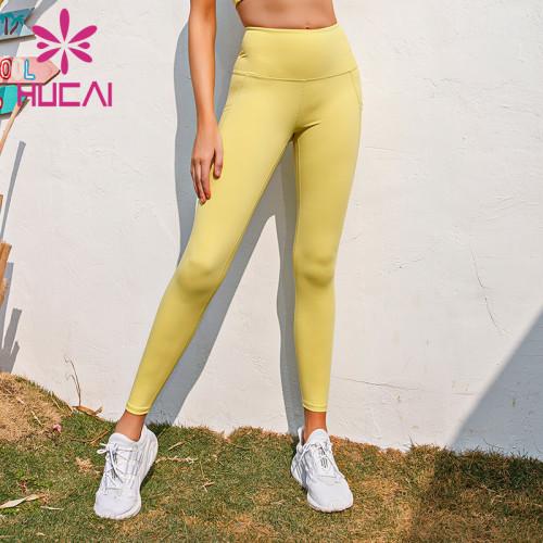 wholesale comfortable yoga leggings high quality hip lifting fitness pants