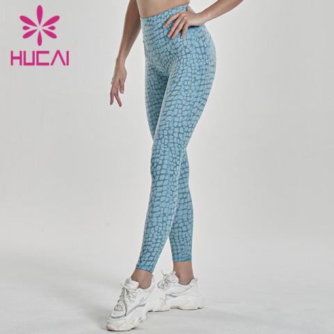 wholesale coral yoga leggings high quality hip lifting fitness pants
