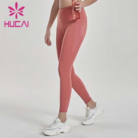 wholesale blank yoga pants with pockets