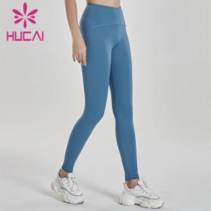 wholesale dark blue yoga leggings hip lifting fitness pants