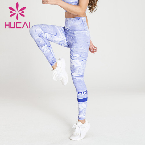wholesale graphic yoga leggings hip lifting fitness pants