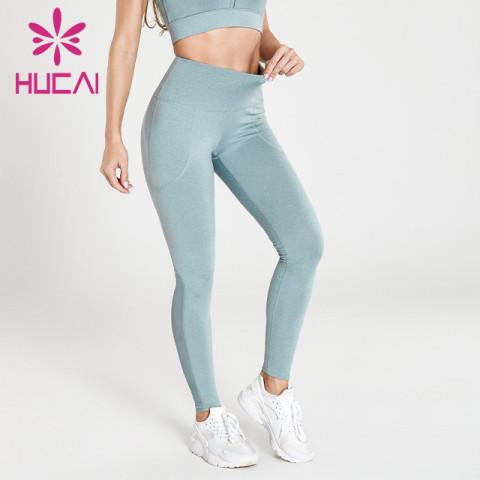 wholesale heather grey yoga leggings