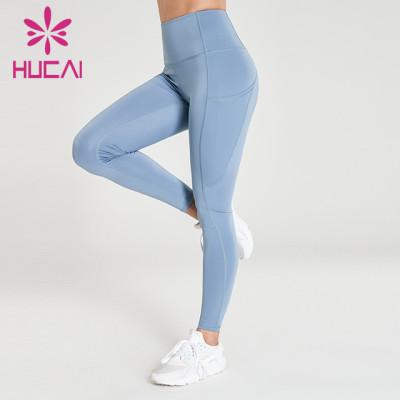 wholesale high rise straight leg yoga pants fitness pants