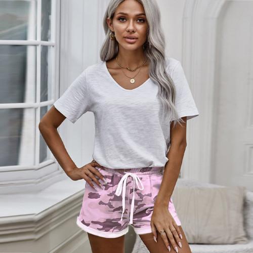 camo jogger sweat shorts wholesale