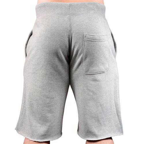 men fleece jogger shorts black wholesale