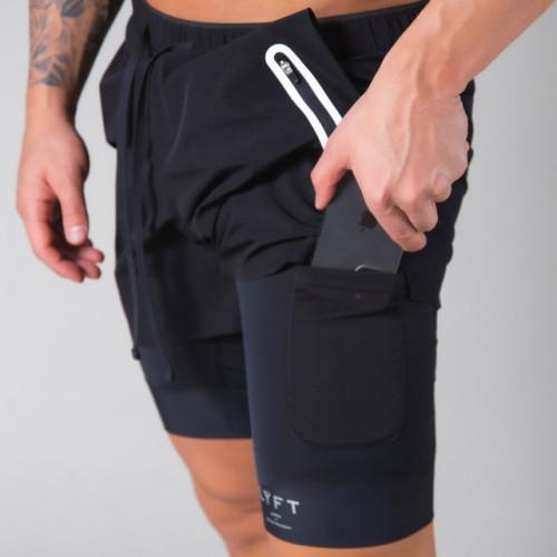 wholesale mens drawstring running shorts black