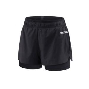 black custom design women's trail running shorts wholesale