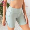wholesale ruffle  womens yoga shorts comfort color can custom print