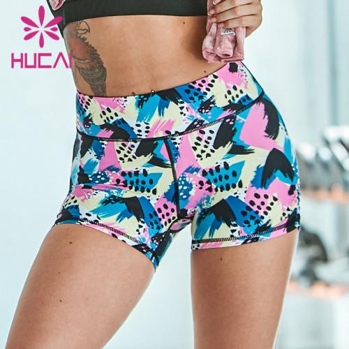 custom printed cotton gym shorts wholesale manufacturer