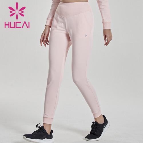 Create custom women pink jogger pants