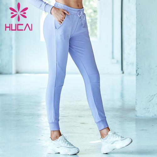 Create custom women Light blue pink jogger drawstring pants