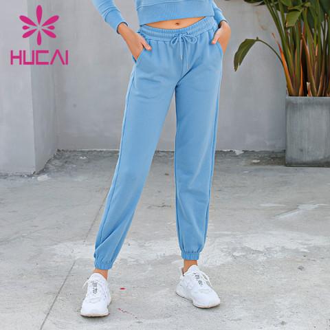 custom wholesale blue running pants
