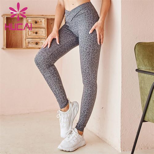 Customized Wholesale High Waist Printed Fitness Pants