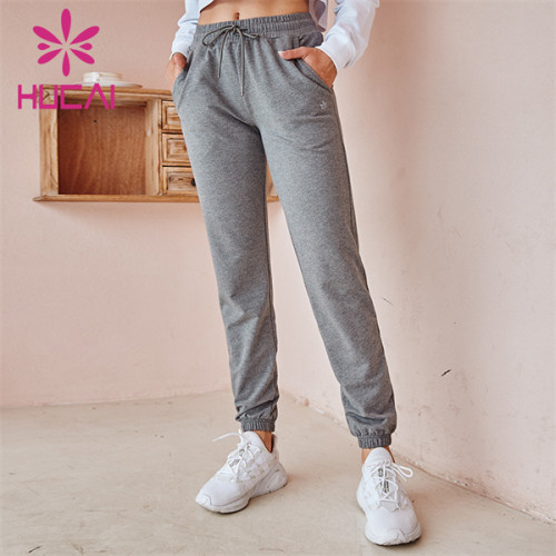 China Factory Custom Solid Color Loose Sweatpants