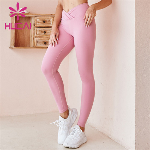 High Waist Solid Color Fitness Pants China Manufacturer