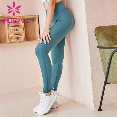Customized Wholesale Solid Color High Waist Fitness Pants