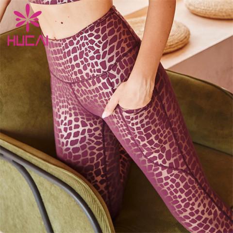 Leopard Print High Waist Fitness Pants Wholesale Manufacturer