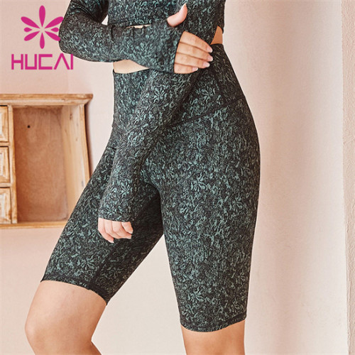 Customized Wholesale High Waist Printed Cycling Shorts